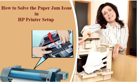 How to solve the paper jam issue in the HP Printer?